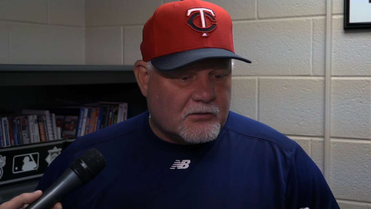 Gardenhire keeps doubleheader lineups status quo