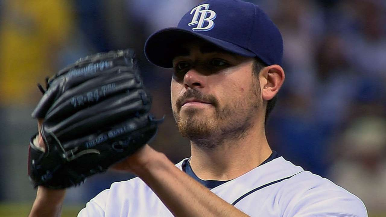 Moore silences Yanks in Rays' fourth straight win