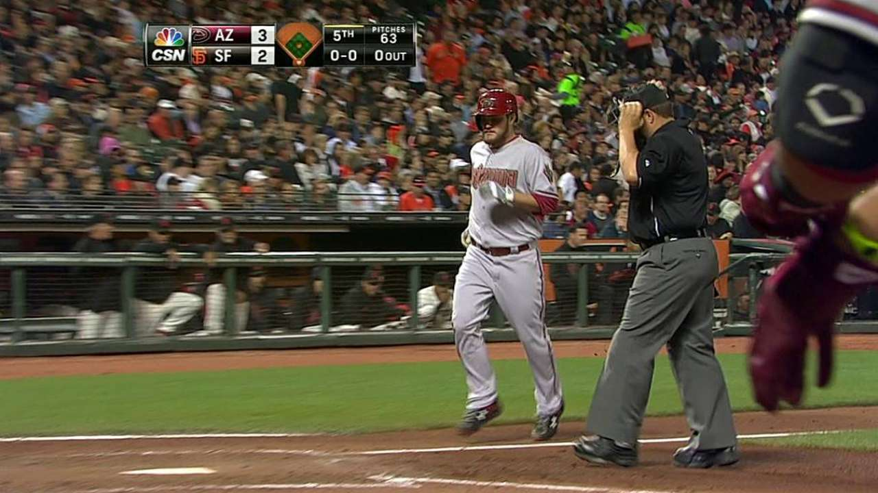 Opposing pitchers muscling up at plate vs. Giants