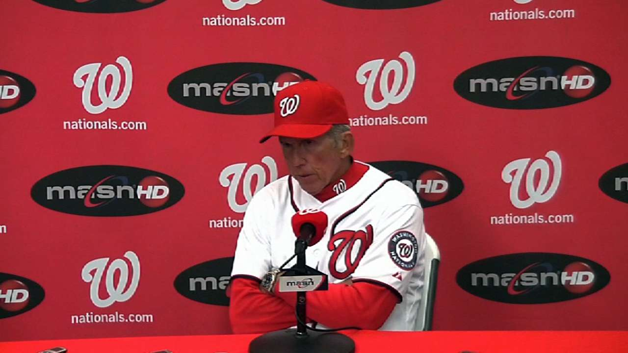 Haren frustrated, but Nats have confidence