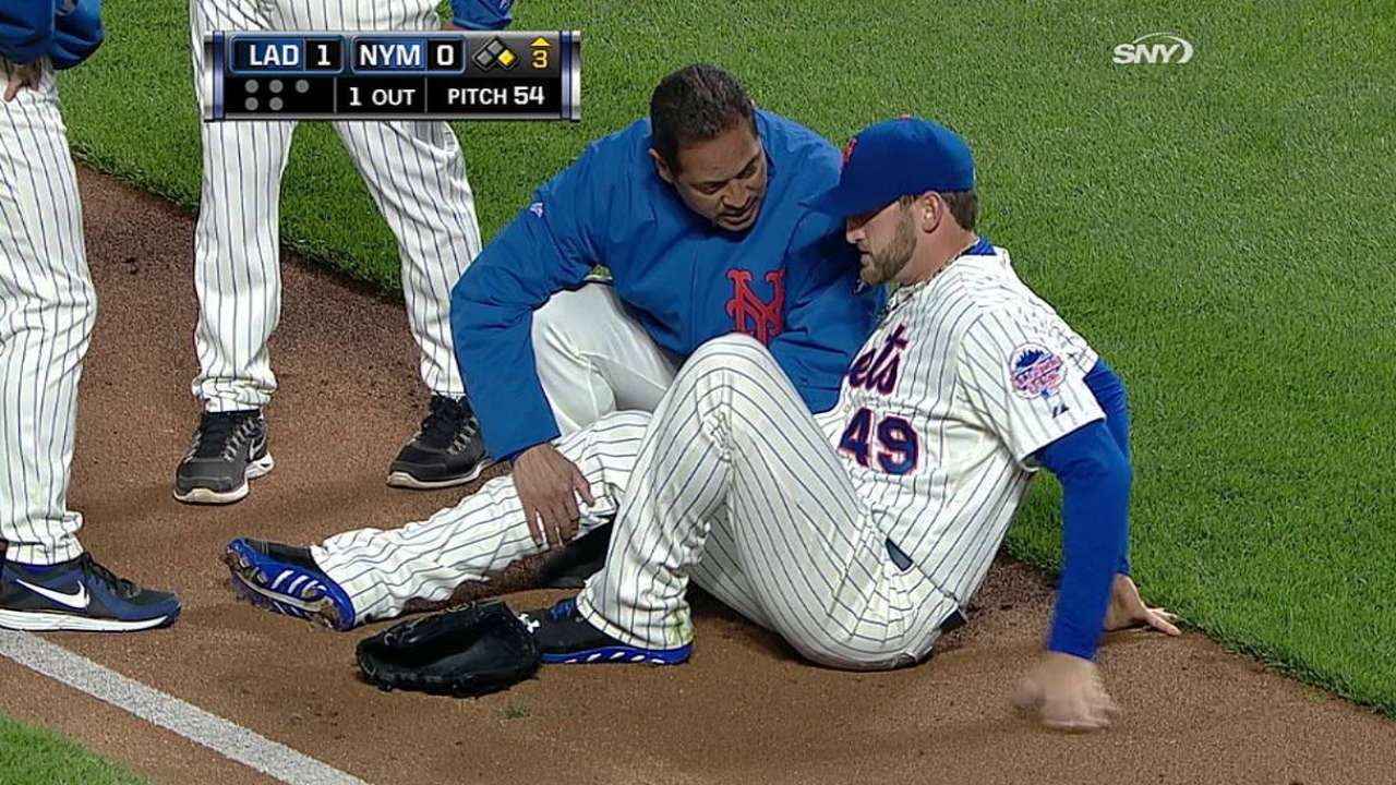 Niese doesn't expect to miss time with right leg bruise