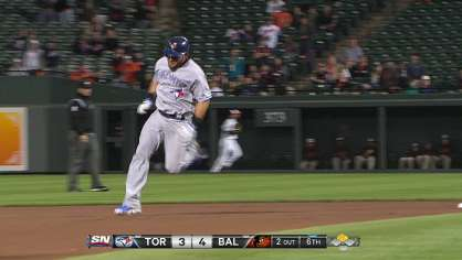 Cabrera hits a triple