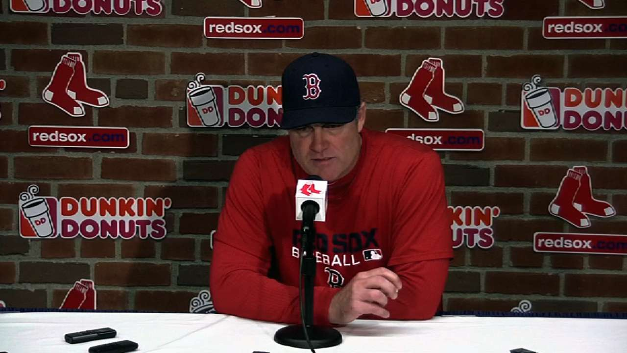 Farrell: Aceves demotion solely performance-based