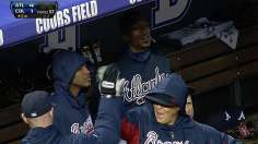 Braves erupt to sweep twin bill in frigid Colorado