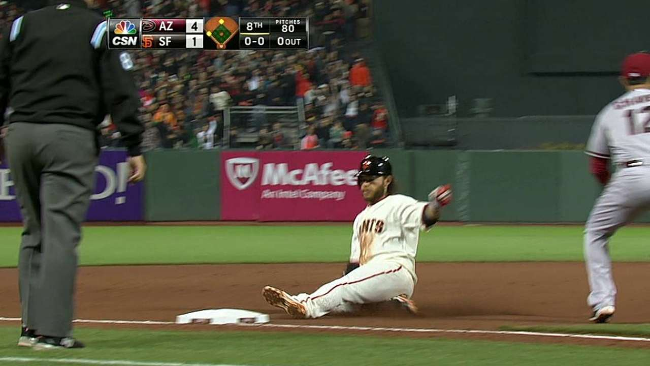 Crawford becoming workhorse for Giants