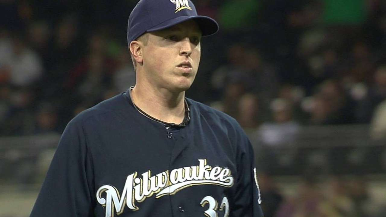 Brewers place Gorzelanny on DL, recall Fiers