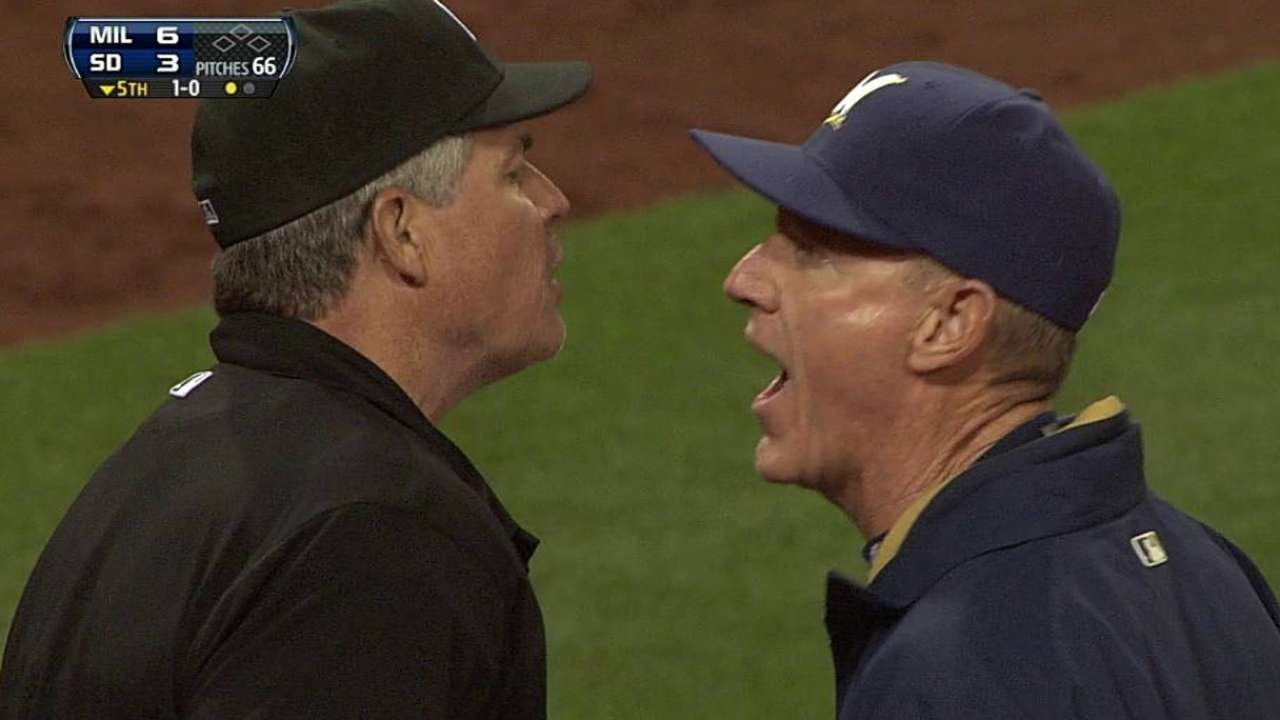 Roenicke ejected in fifth inning