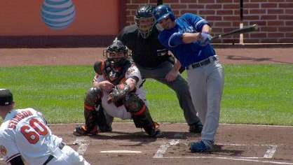 Arencibia hits a two-run homer