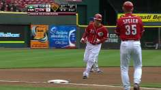 Frazier's resounding homer rewards Latos in shutout