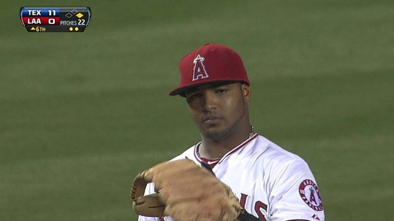 Jimenez an 'emergency' option in Angels' outfield