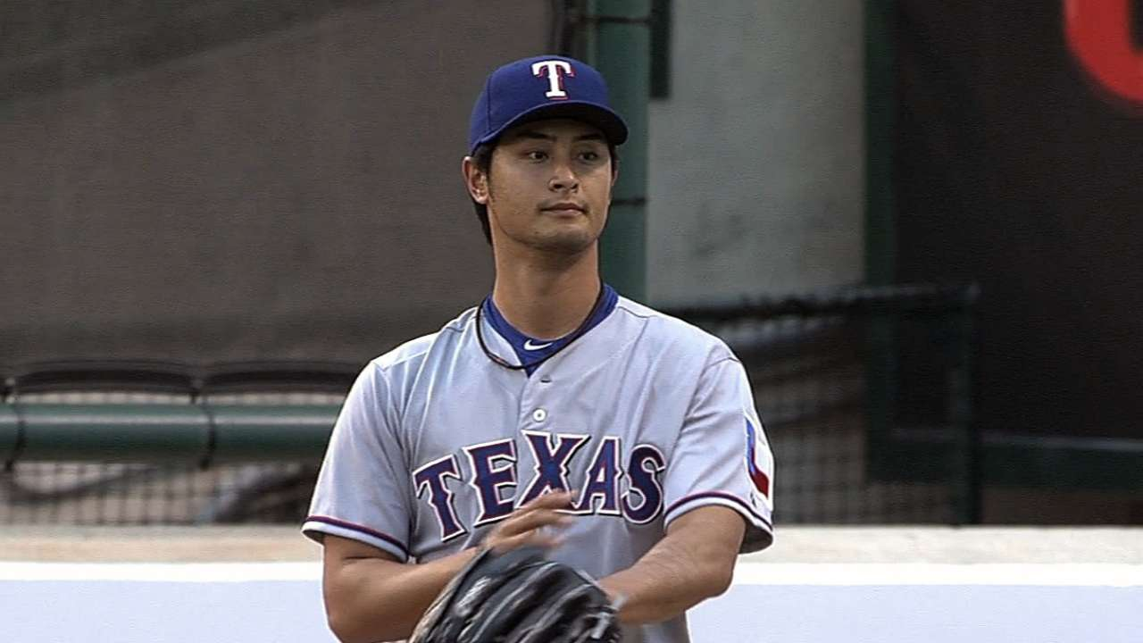 Darvish named Rangers Player of the Month