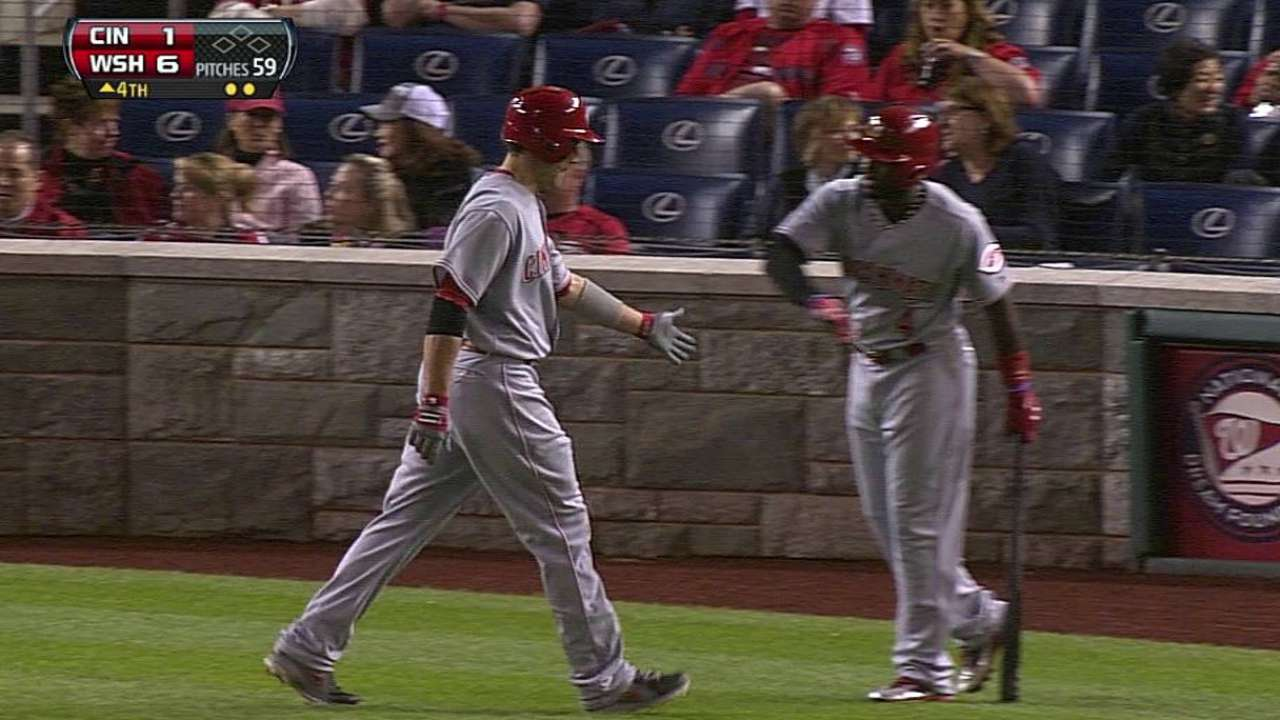 Arroyo touched early as Reds can't crack Gio