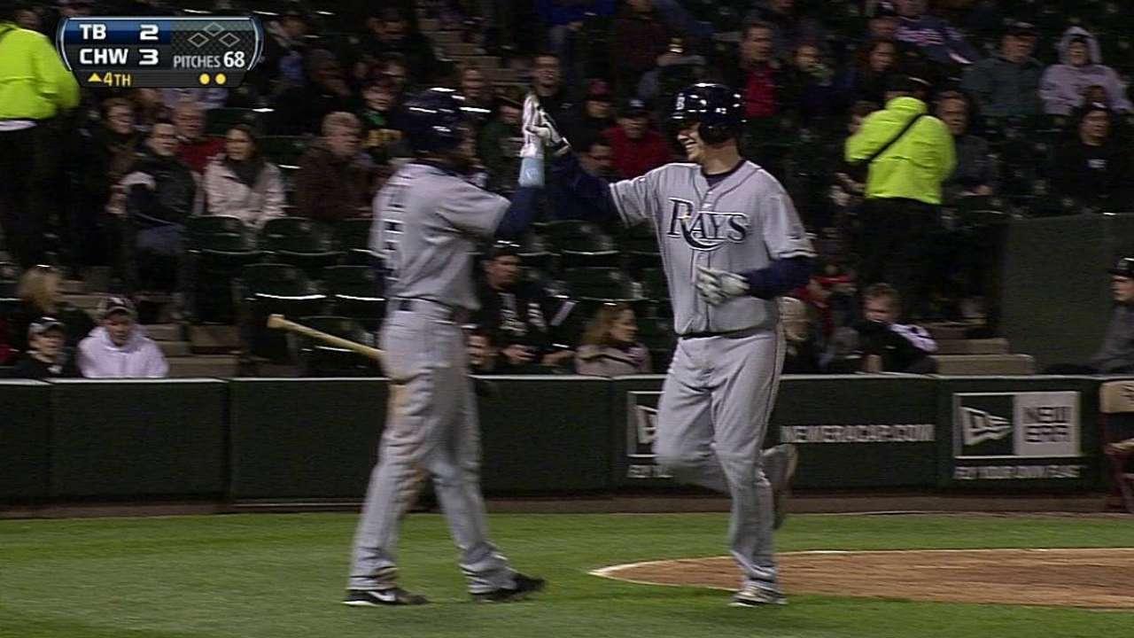 Ofensiva de Rays se apaga en derrota ante White Sox
