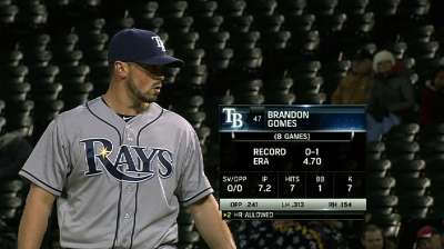 Gomes a fresh, reliable arm out of Rays 'pen