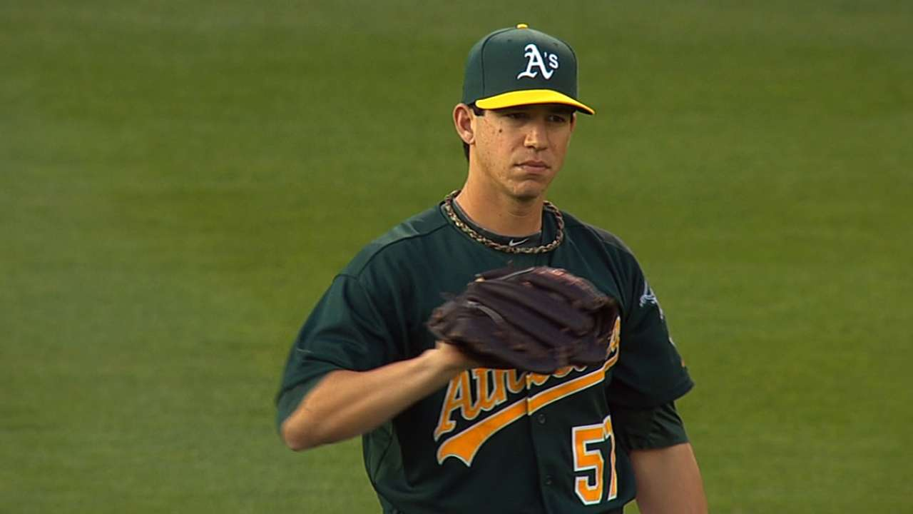 A's unable to back Milone's strong effort