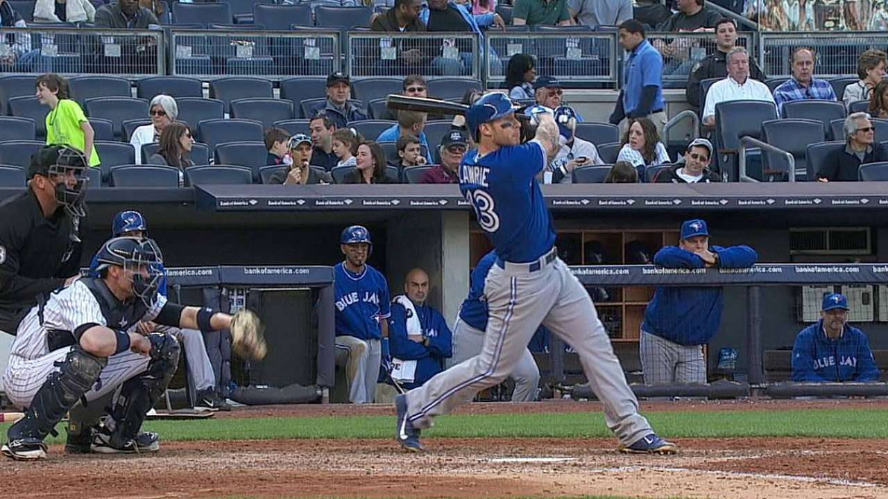 Blue Jays' pair of leads in Bronx short-lived