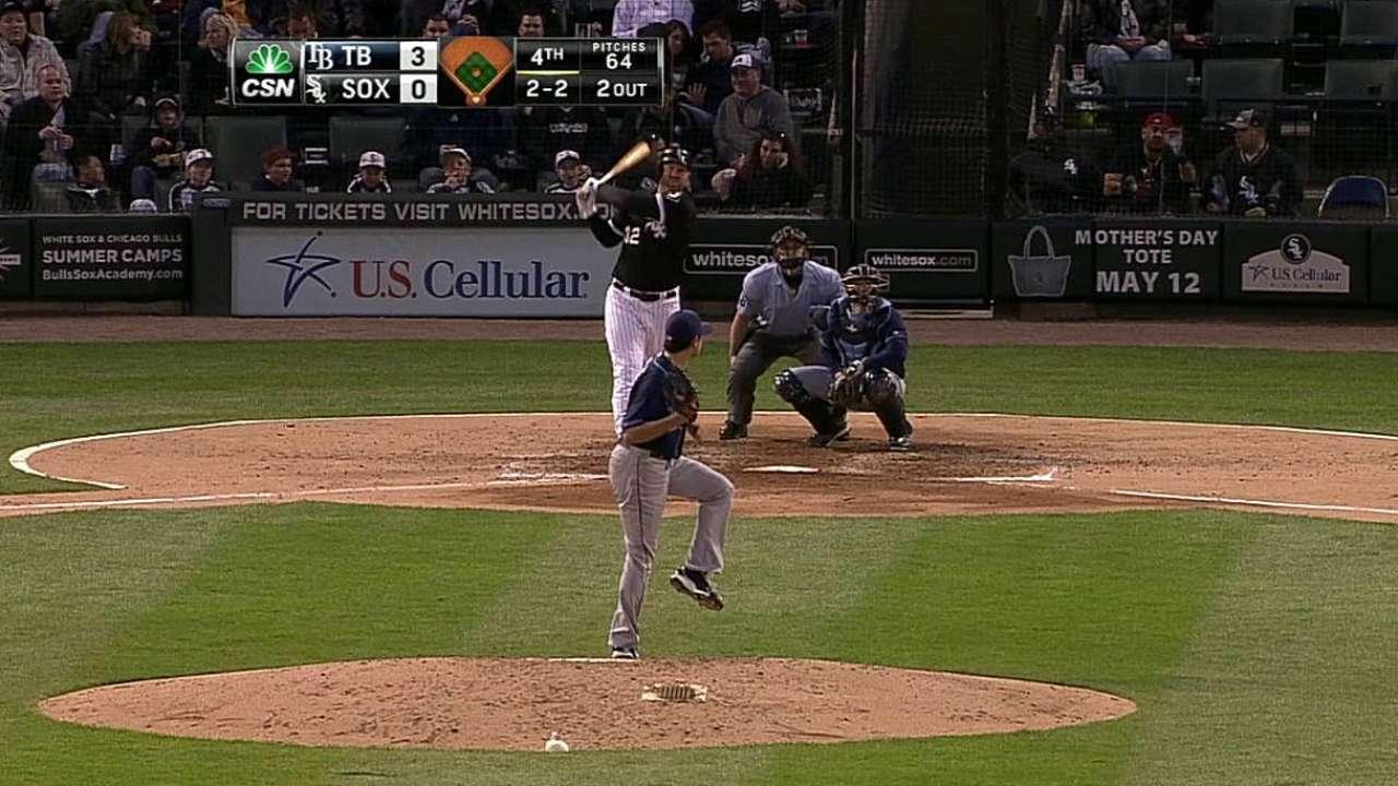 Pitcheo de White Sox sucumbe ante bateo de Rays