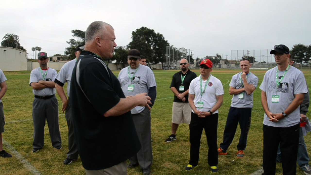 Marine Corps members take part in umpire camp