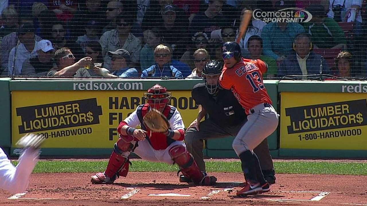 Norris, Astros drop series finale at Fenway