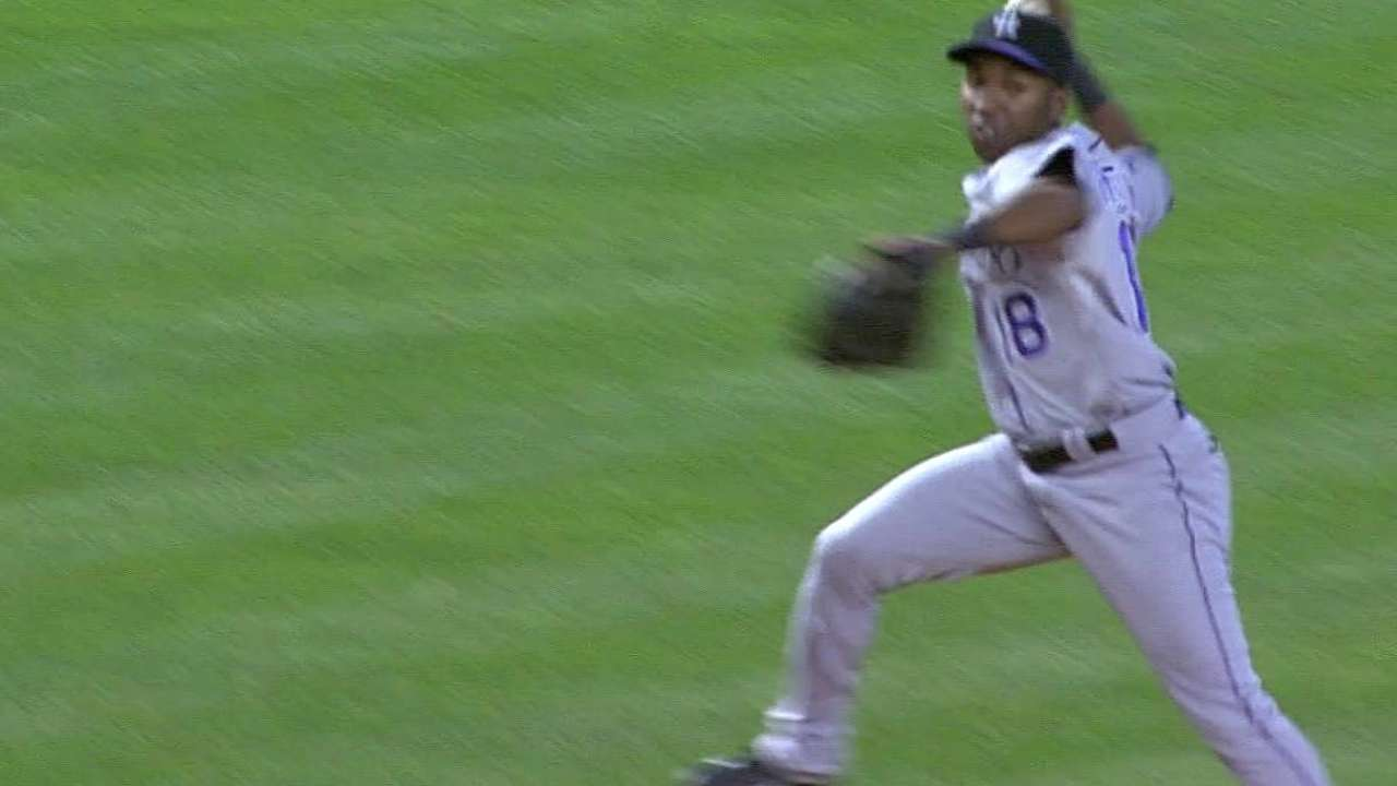 After filling in for Tulo, Herrera turns in defensive gem