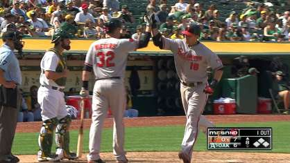 Davis hit a go ahead homer