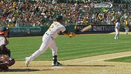 Cespedes clutch two-run homer