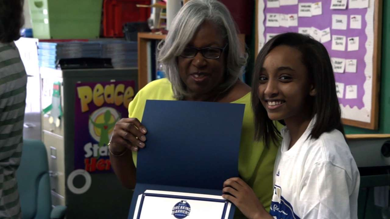 Chicago seventh-grader looks to break down barriers