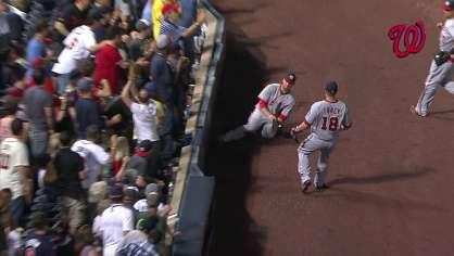 Harper makes a nice sliding catch
