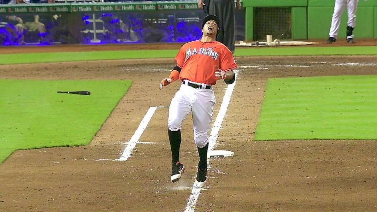 Stanton throws, takes swings off tee
