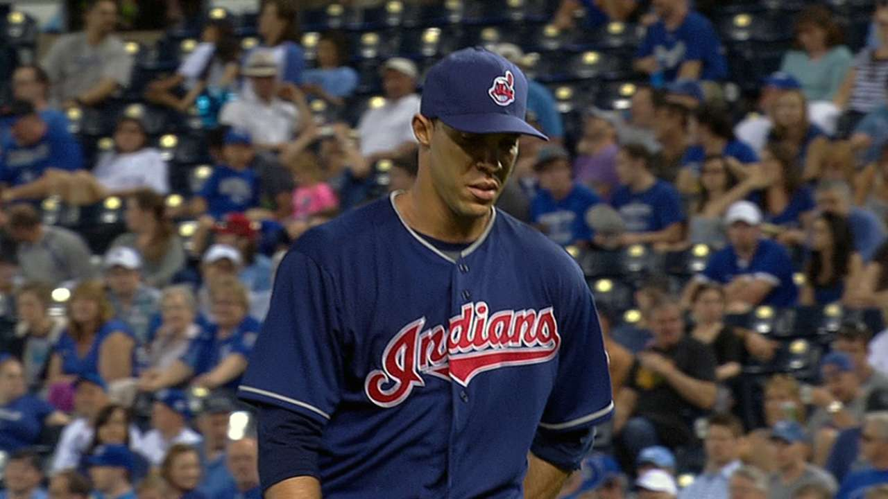 Ubaldo arrives at victory lane against Royals