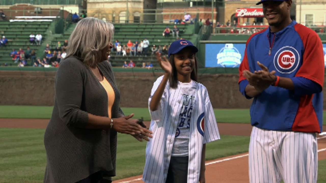 Cubs honor local student's Breaking Barriers win