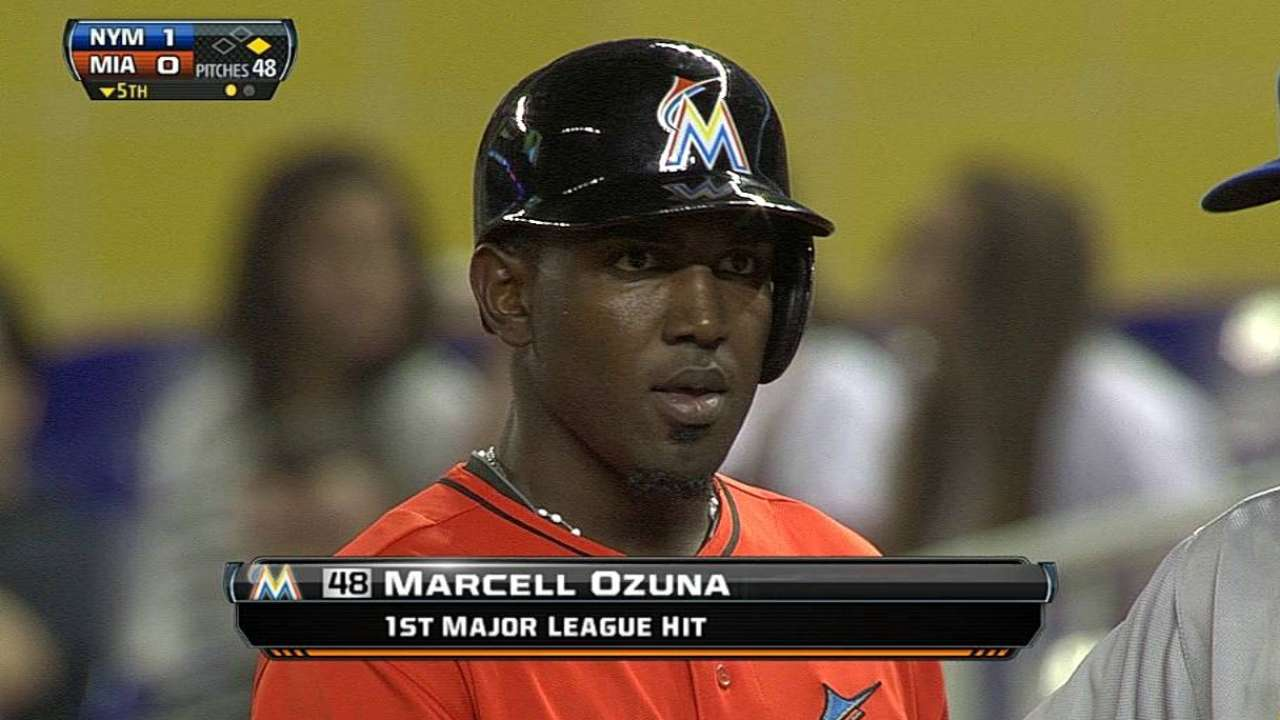 Ozuna climbing up Marlins' batting order