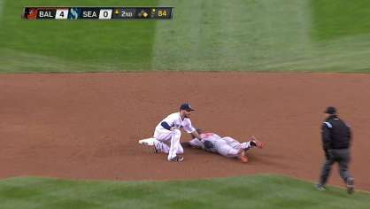 Stoppach gets a nice pick off at second