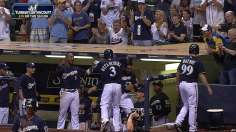 Late homers carry Brewers; Weeks has revival at plate