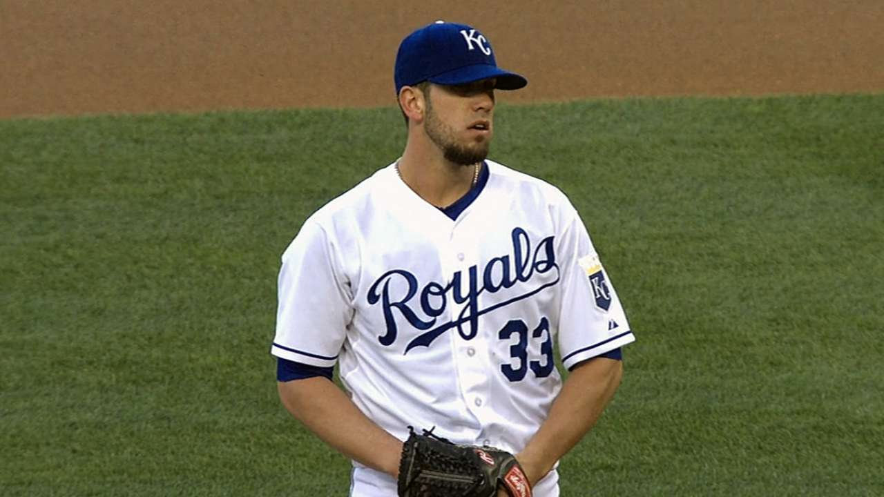 Backed by Moustakas, Shields delivers vs. former team