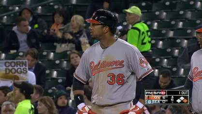 Dickerson hits a two RBI single
