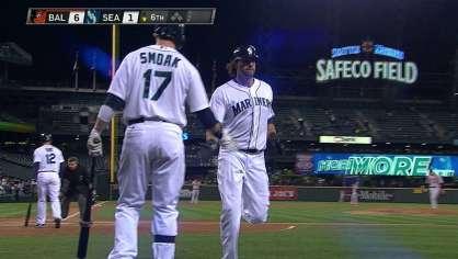 Morse hits a solo homer