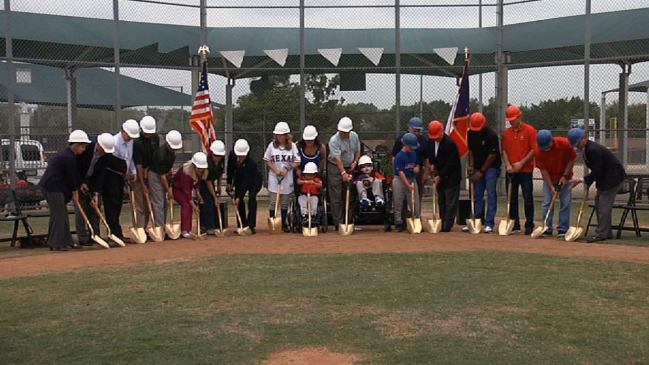 Rangers unveil Southlake Miracle League Field