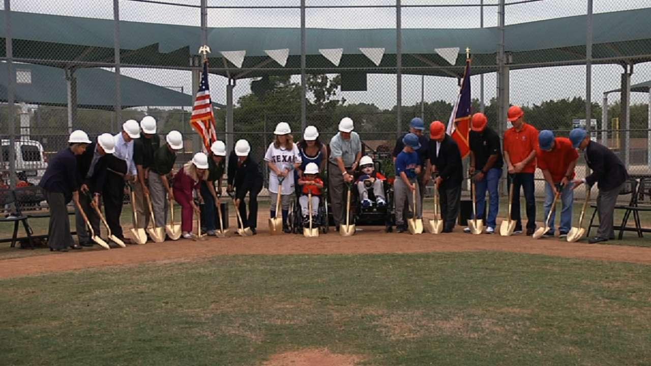 Rangers unveil Southlake Miracle League Field