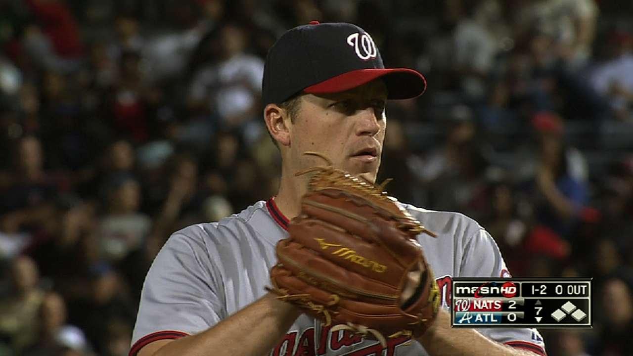 Zimmermann feeds Braves steady diet of zeros