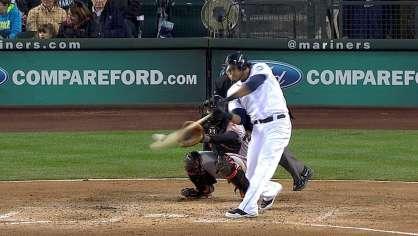 Morse hits a two-run homer