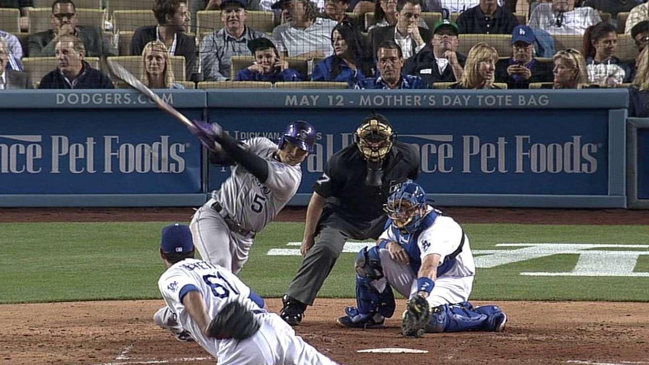 Carlos González guía triunfo de Rockies vs. Dodgers