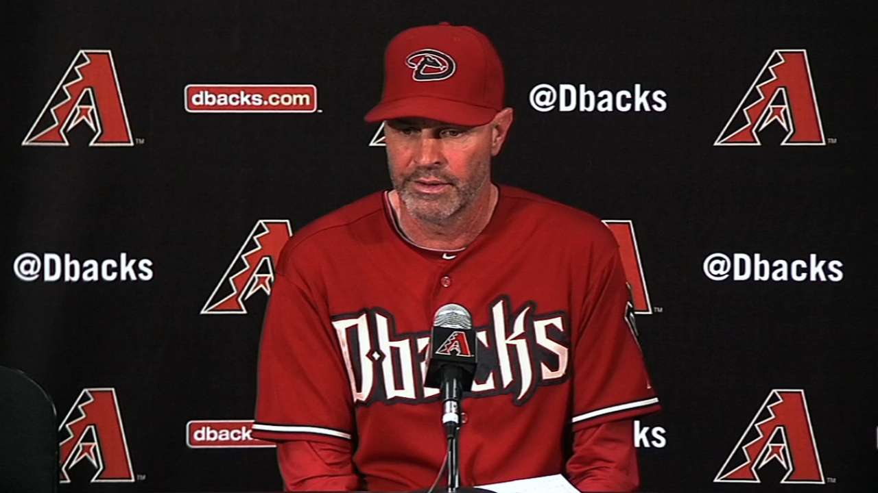 Towers wants more from D-backs' bullpen