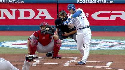 Lawrie hits a solo homer