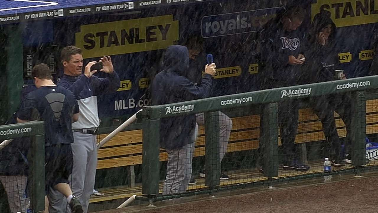 Rays, Royals postponed due to rain, snow