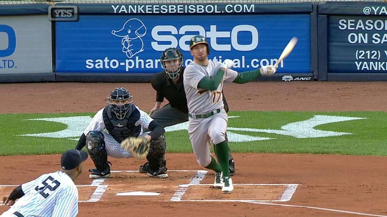 Griffin, Atléticos pintan de blanco a los Yankees