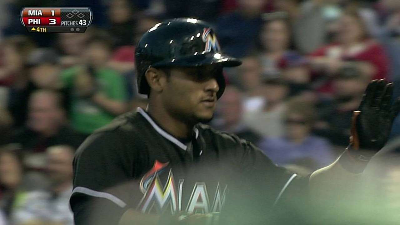 Solano latest Marlin to miss game with injury