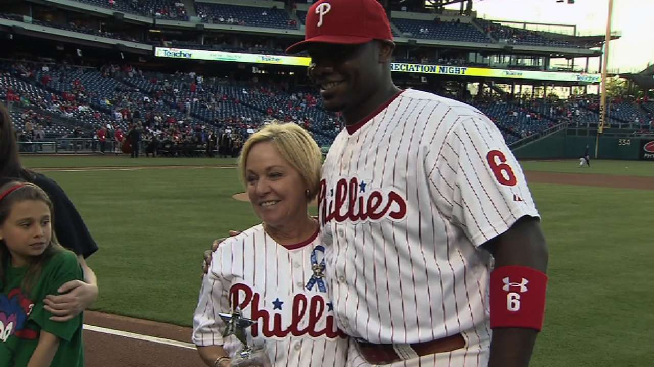 Howard honors teacher at Citizens Bank Park