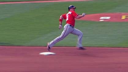 Zimmerman hits a triple