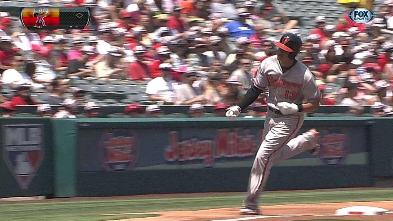 Orioles doblegaron a los Angelinos en 10 innings